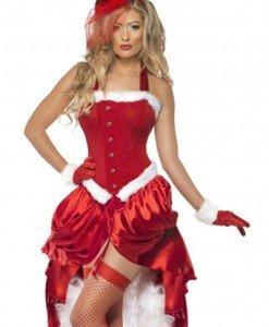 XM260 Costum tematic craciunita burlesque - Costume de craciunita - Haine > Haine Femei > Costume Tematice > Costume de craciunita