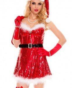 XM263 Costum de craciunita sexy - Costume de craciunita - Haine > Haine Femei > Costume Tematice > Costume de craciunita