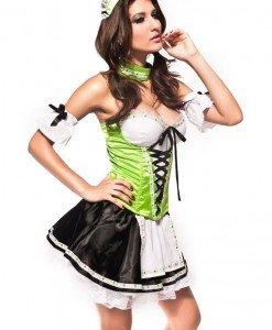 Y175 Costum tematic cu corset - Chelnerita - Haine > Haine Femei > Costume Tematice > Chelnerita