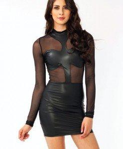 Y238 Rochie Sexi Vinil - Rochii - Haine > Haine Femei > Costume latex si PVC > Rochii