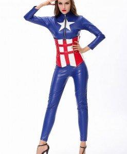 Y290 Salopeta lunga model Captain America - Super Eroi - Haine > Haine Femei > Costume Tematice > Super Eroi