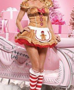 Z161 Costum tematic ajutorul lui Mos Craciun - Costume de craciunita - Haine > Haine Femei > Costume Tematice > Costume de craciunita