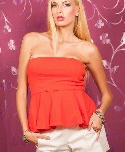 Zr12 Top cu Volanas - Zara - Haine > Brands > Zara