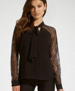 BL252-1 Bluza eleganta cu maneci lungi din dantela - Bluze - Haine > Haine Femei > Bluze > Bluze
