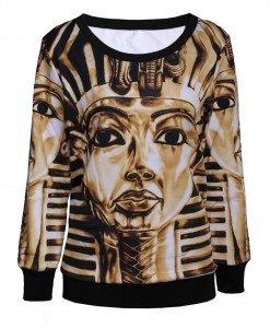 BL277 Bluza cu imprimeu faraon Egipt - Bluze - Haine > Haine Femei > Bluze > Bluze