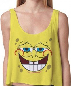 BL303-9 Maieu casual cu model Sponge Bob - Topuri - Haine > Haine Femei > Bluze > Topuri