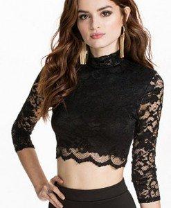 BL388-1 Top sexy cu maneci treisfert si dantela - Bluze - Haine > Haine Femei > Bluze > Bluze