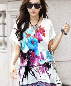 BL393-2 Bluza vaporoasa de vara cu model - Bluze - Haine > Haine Femei > Bluze > Bluze