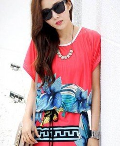 BL394-3 Bluza vaporoasa de vara cu model - Bluze - Haine > Haine Femei > Bluze > Bluze