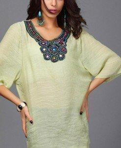 BL401-9 Bluza de vara cu maneci treisfert si broderie - Bluze - Haine > Haine Femei > Bluze > Bluze