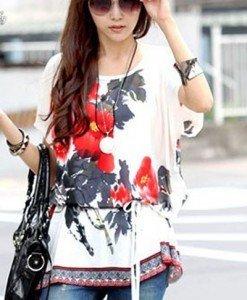 BL414 Bluza de vara cu cordon in talie - Bluze - Haine > Haine Femei > Bluze > Bluze