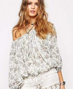 BL436 Bluza de vara cu umerii goi si maneci lungi - Bluze - Haine > Haine Femei > Bluze > Bluze
