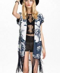 BL442-1122 Tunica cu model si franjuri - Costume de plaja - Haine > Haine Femei > Costume de baie > Costume de plaja