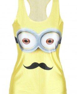 BL521-9 Maieu casual cu model Mustached Minion - Altele - Haine > Haine Femei > Costume Tematice > Altele