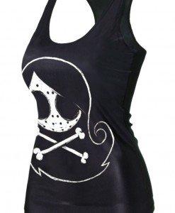 BL533-1122 Maieu cu model craniu - Altele - Haine > Haine Femei > Costume Tematice > Altele