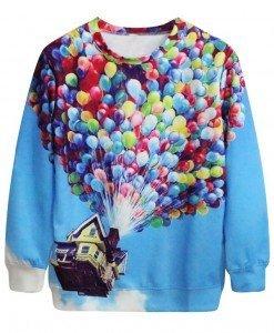 BL545 Bluza casual cu model Flying House - Bluze - Haine > Haine Femei > Bluze > Bluze