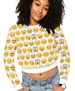 BL567 Bluza casual cu model Emoticons - Bluze - Haine > Haine Femei > Bluze > Bluze