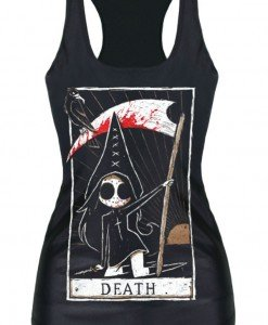BL580 Maieu tematic Halloween - Death Card - Altele - Haine > Haine Femei > Costume Tematice > Altele