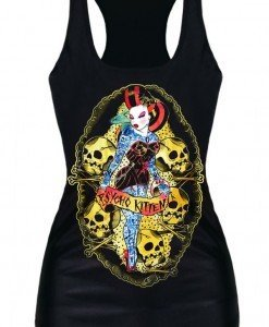 BL585 Maieu casual cu model Halloween Psycho Kitten - Altele - Haine > Haine Femei > Costume Tematice > Altele