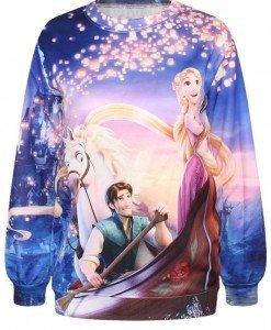 BL598 Bluza casual cu model Rapunzel (Tangled) - Bluze - Haine > Haine Femei > Bluze > Bluze