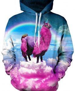 BL600 Hanorac cu imprimeu 3D unicorn - Bluze - Haine > Haine Femei > Bluze > Bluze