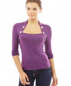 BL621-11 Bluza casual cu maneci lungi - Bluze - Haine > Haine Femei > Bluze > Bluze