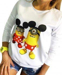 BL641 Bluza casual cu model Minion-Mickey Mouse - Bluze - Haine > Haine Femei > Bluze > Bluze