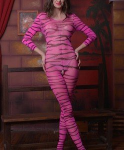 BS178-55 Lenjerie tip bodystocking cu model animal print - Bodystockings