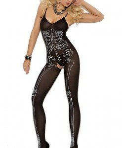 BS221-1 Lenjerie sexy tip bodystocking cu model anatomic schelet - Bodystockings