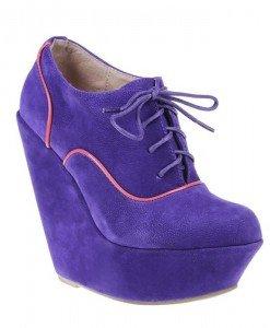 Botine Adnana mov - Home > Pantofi -