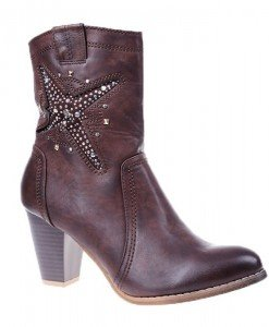 Botine Jenny dark brown - Home > Botine -