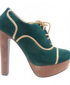 Botine verzi cu platforma verde Xuxa - Home > Reduceri -