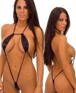 C231 Body sexy din vinil cu prindere dupa gat - Lenjerie body - Haine > Haine Femei > Lenjerie intima > Lenjerie body