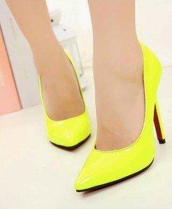 CH2237-1 Pantofi stiletto din lac cu toc inalt - Pantofi Dama - Incaltaminte > Incaltaminte Femei > Pantofi Dama