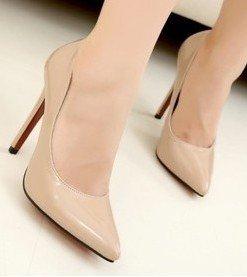 CH2237-15 Pantofi stiletto din lac cu toc inalt - Incaltaminte - Haine > Haine Femei > Produse Mirese > Incaltaminte