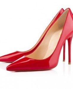 CH2237-3 Pantofi stiletto din lac cu toc inalt - Pantofi Dama - Incaltaminte > Incaltaminte Femei > Pantofi Dama