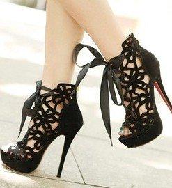 CH2252-1 Sandale elegante cu snur in fata - Sandale dama - Incaltaminte > Incaltaminte Femei > Sandale dama