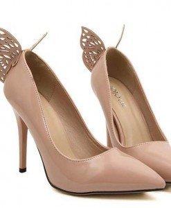 CH2265-15 Pantofi eleganti cu toc inalt si fluturas la spate - Pantofi Dama - Incaltaminte > Incaltaminte Femei > Pantofi Dama