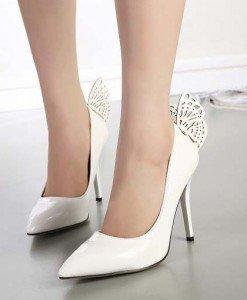 CH2265-2 Pantofi eleganti cu toc inalt si fluturas la spate - Pantofi Dama - Incaltaminte > Incaltaminte Femei > Pantofi Dama