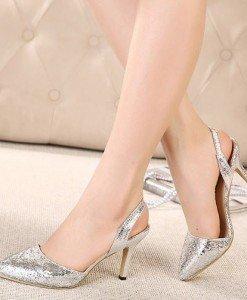 CH2292-6 Sandale elegante cu reflexii argintii - Sandale dama - Incaltaminte > Incaltaminte Femei > Sandale dama