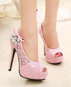 CH2320-5 Pantofi eleganti cu decupaj in fata