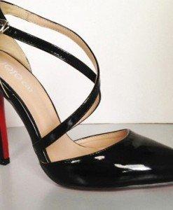 CH2323-1 Sandale stiletto cu barete subtiri in X - Sandale dama - Incaltaminte > Incaltaminte Femei > Sandale dama