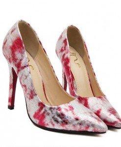 CH2324-3 Pantofi stiletto si print colorat - Pantofi Dama - Incaltaminte > Incaltaminte Femei > Pantofi Dama