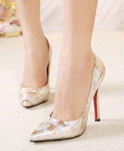 CH2324-7 Pantofi cu varf ascutit si model - Pantofi Dama - Incaltaminte > Incaltaminte Femei > Pantofi Dama