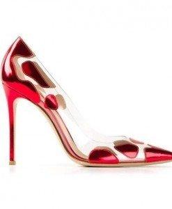 CH2325-3 Pantofi stiletto cu model - Pantofi Dama - Incaltaminte > Incaltaminte Femei > Pantofi Dama
