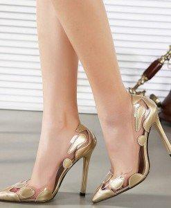 CH2325-7 Pantofi stiletto cu model - Pantofi Dama - Incaltaminte > Incaltaminte Femei > Pantofi Dama