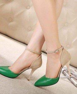 CH2343-12 Pantofi stiletto cu toc si bareta subtire - Pantofi Dama - Incaltaminte > Incaltaminte Femei > Pantofi Dama
