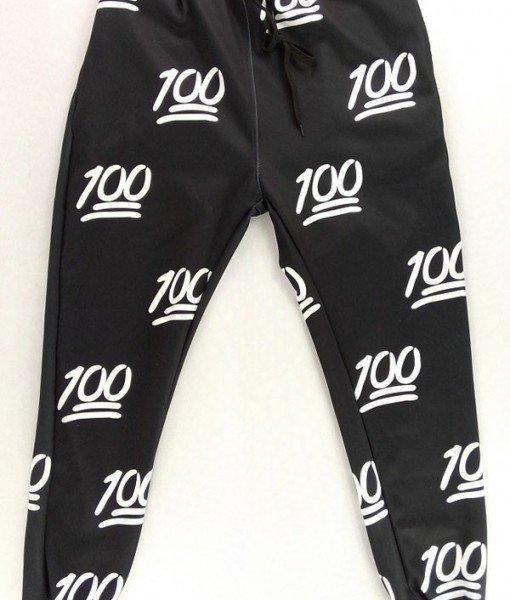CL409-1 Pantaloni lungi Emoji Jogger cu elastic in talie si model – Pantaloni Lungi – Haine > Haine Femei > Pantaloni Dama > Pantaloni Lungi