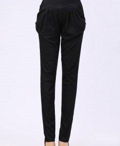 CL448-1 Pantaloni lungi cu buzunare model harem - Pantaloni Lungi - Haine > Haine Femei > Pantaloni Dama > Pantaloni Lungi