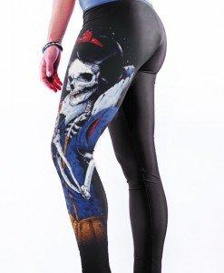 CL486 Colanti sport cu imprimeu 3D Evil Skull Queen - Colanti - Haine > Haine Femei > Pantaloni Dama > Colanti